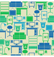 Seamless pattern with office furniture vector