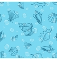 Underwater seamless pattern with shells and vector