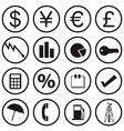 Financial icons vector