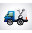 Repair car design vector