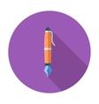 Pen single icon vector