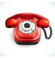 Retro style telephone color vector