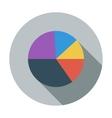 Graph single flat icon vector