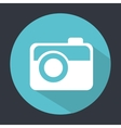 Camera button design vector