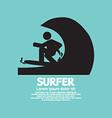 Black symbol surfer vector