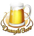 A draught beer label vector