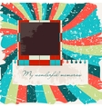 Scrapbook layout template with photo frame vector