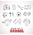 School objects sketch style vector