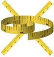 Yellow tape measure vector