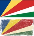 Seychelles grunge flag vector