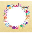 Back to school of paper background vector