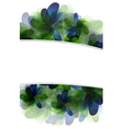 Green and blue abstract flowers vector