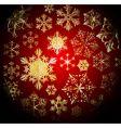 Winter dark christmas pattern vector