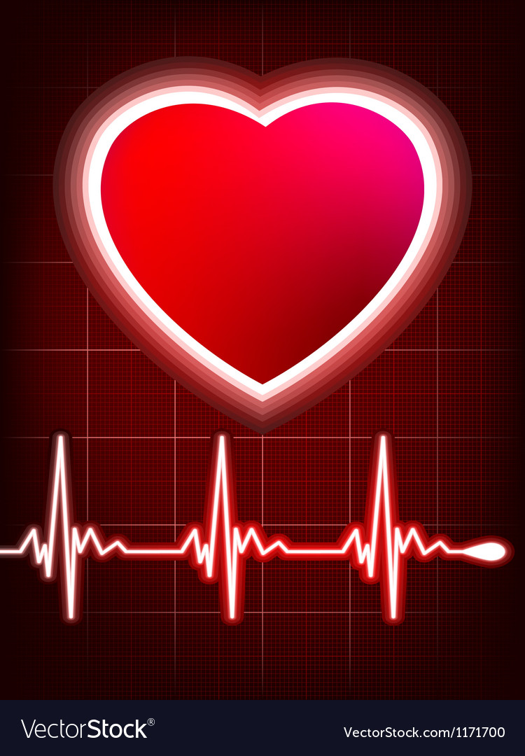 Abstract heart beats cardiogram vector | Price: 1 Credit (USD $1)