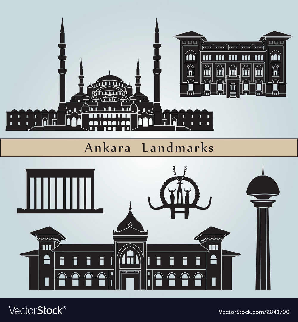 Ankara landmarks and monuments vector | Price: 1 Credit (USD $1)