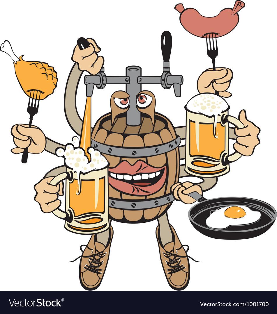 Beer monster vector | Price: 1 Credit (USD $1)