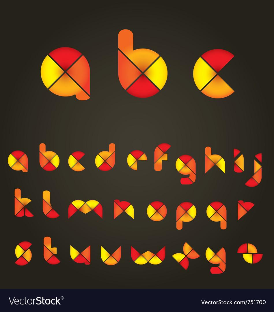 Decorative colored alphabet vector | Price: 1 Credit (USD $1)
