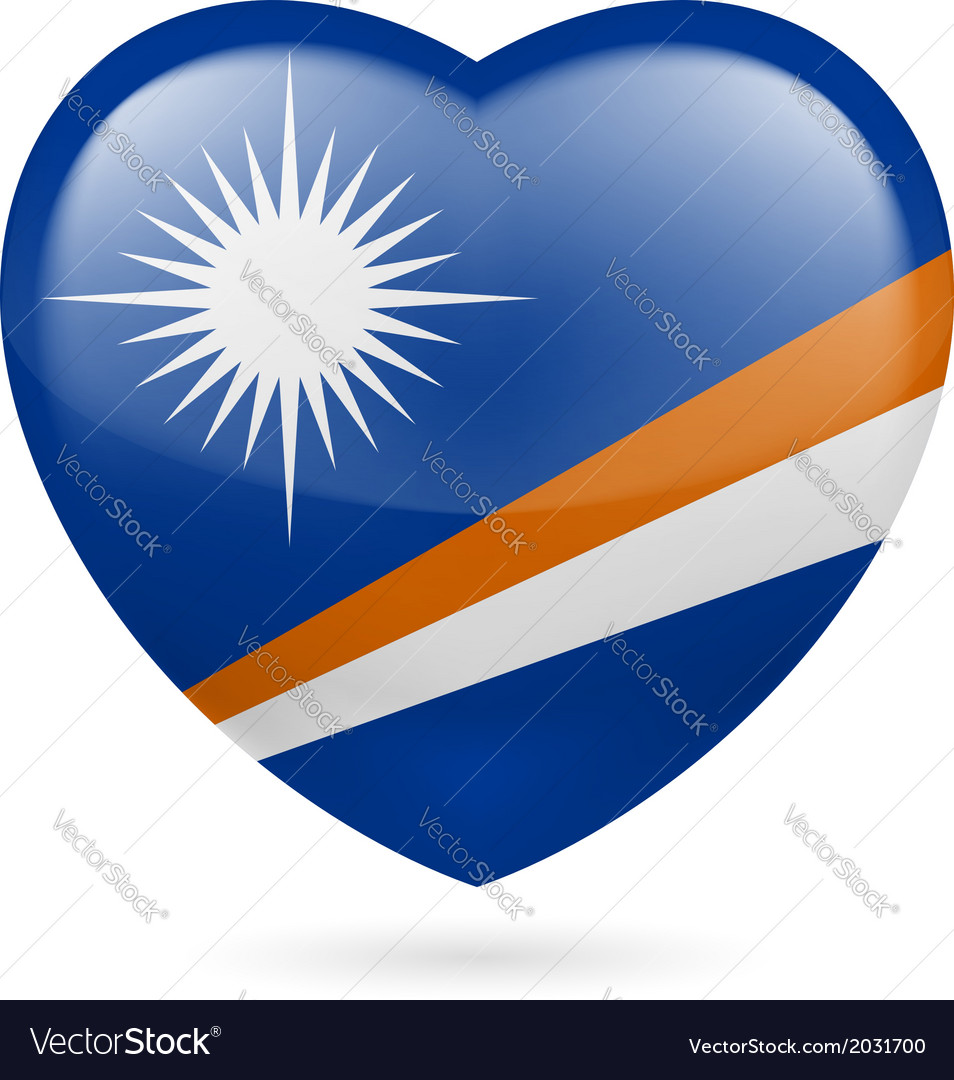 Heart icon of marshall islands vector | Price: 1 Credit (USD $1)