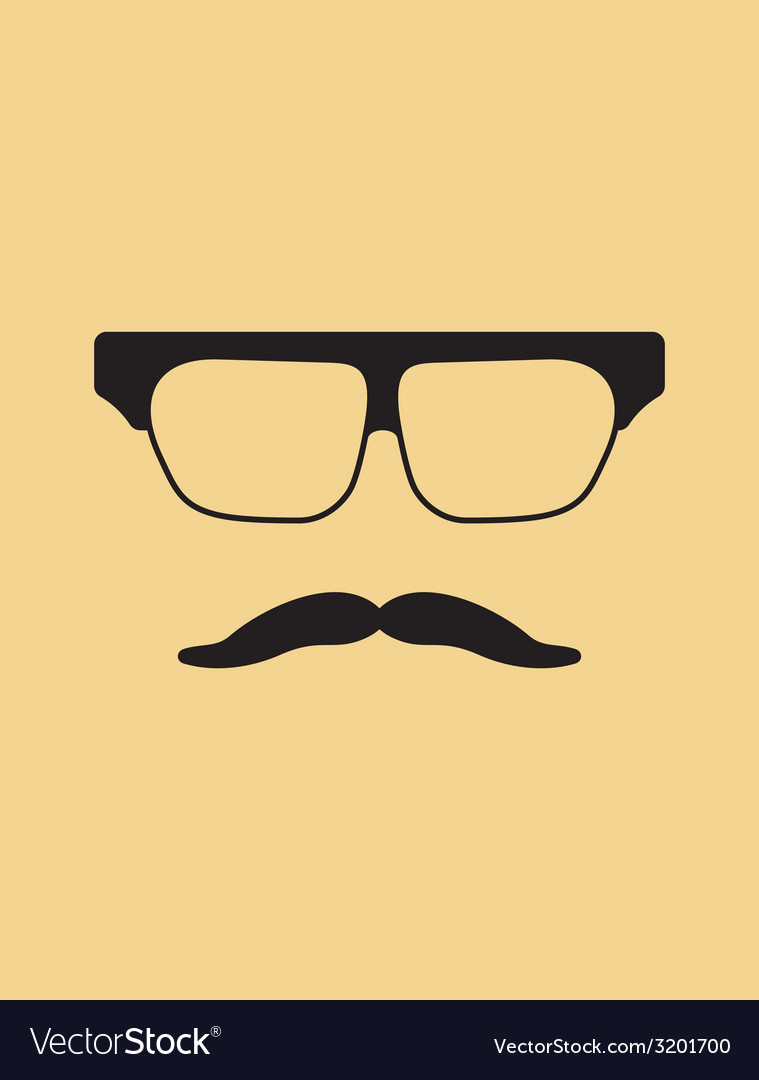 Hipster face3 vector | Price: 1 Credit (USD $1)