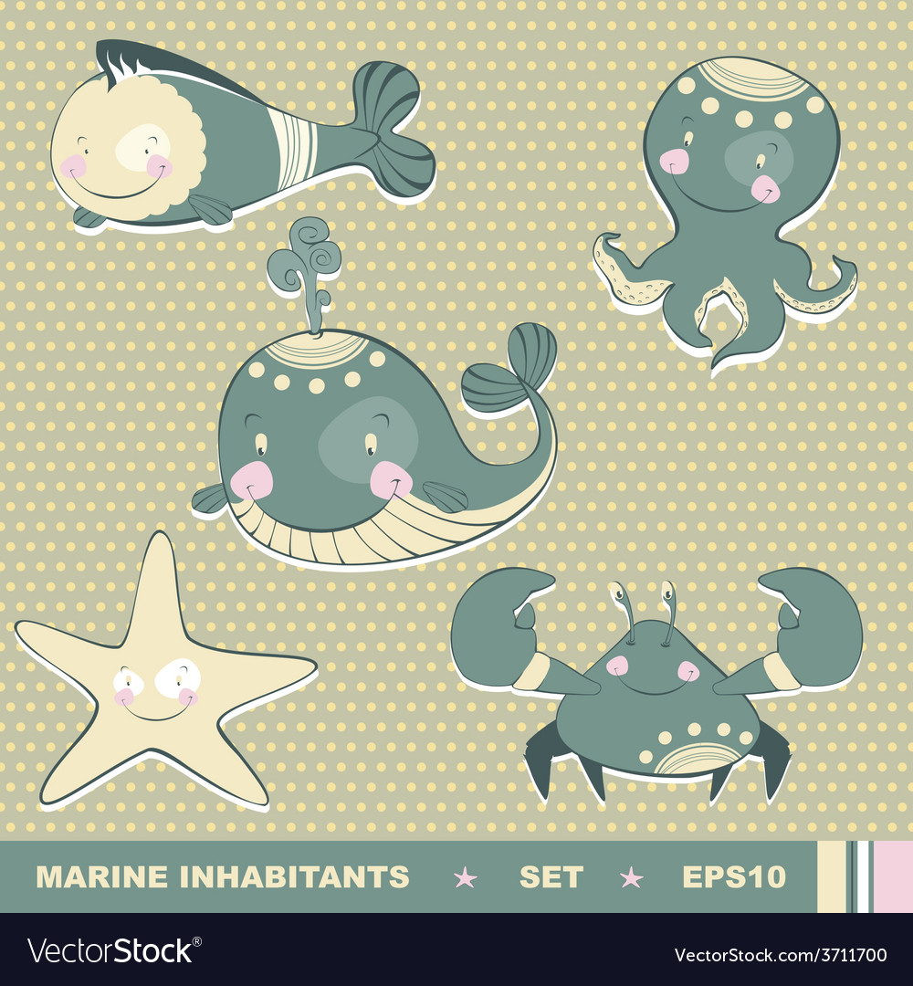 Marine inhabitants vector | Price: 1 Credit (USD $1)