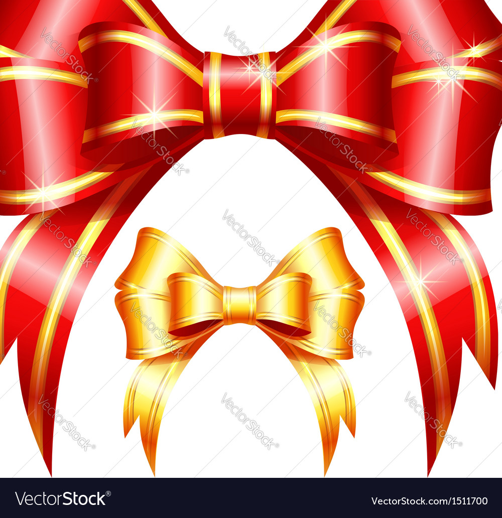 Red and gold gift bow and ribbon vector | Price: 1 Credit (USD $1)