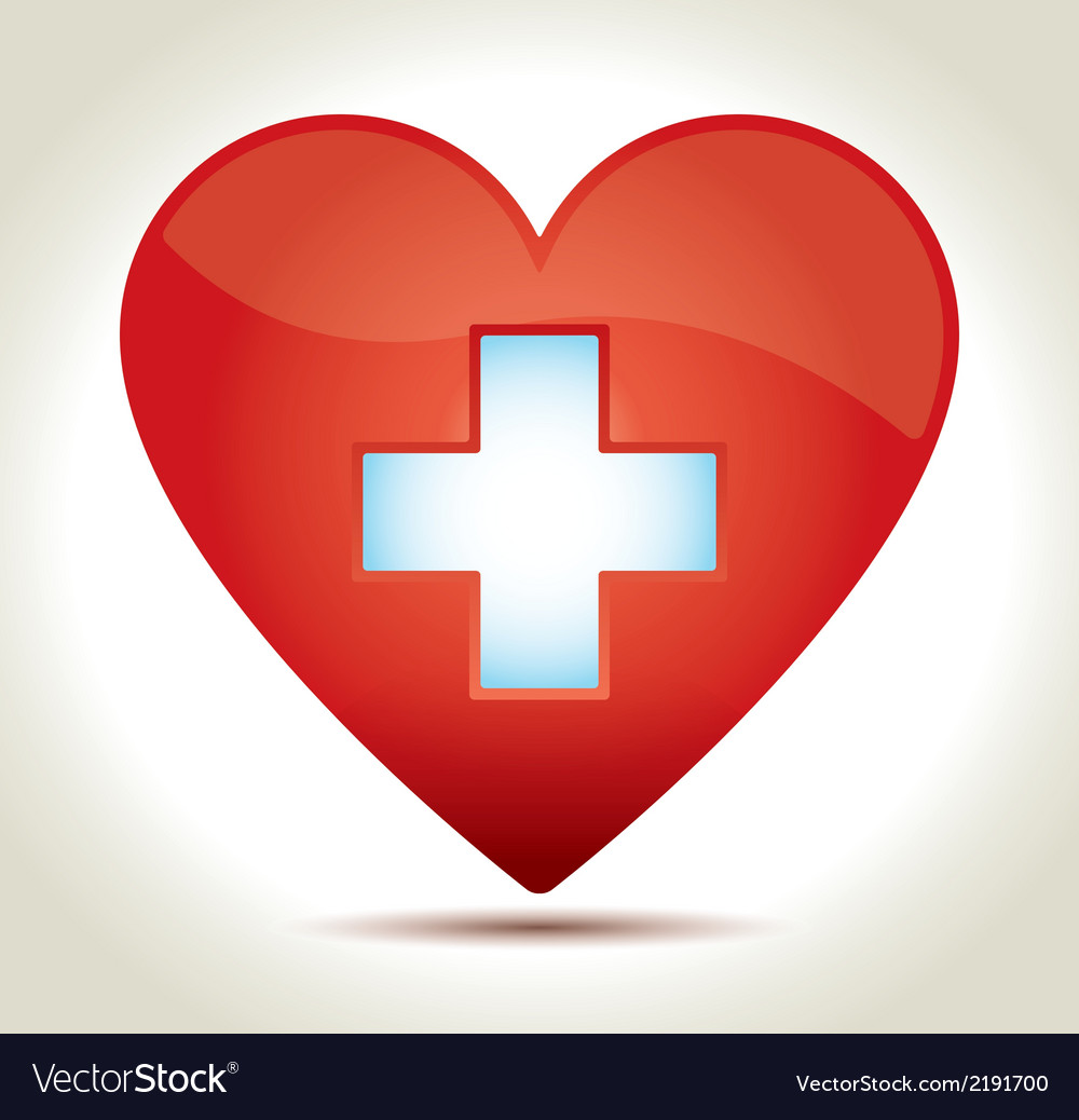 Red heart cross vector | Price: 1 Credit (USD $1)