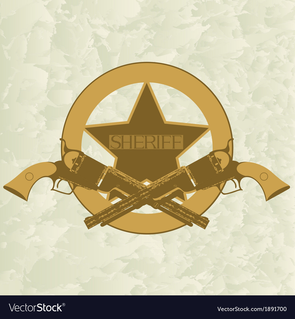 Sheriffs badge-1 vector | Price: 1 Credit (USD $1)