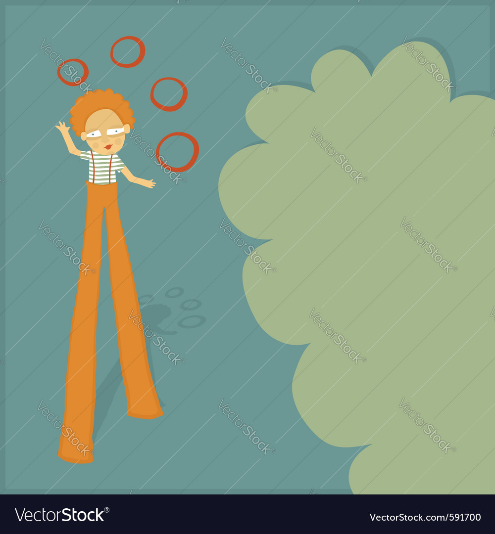 Stilt walker juggler vector | Price: 1 Credit (USD $1)