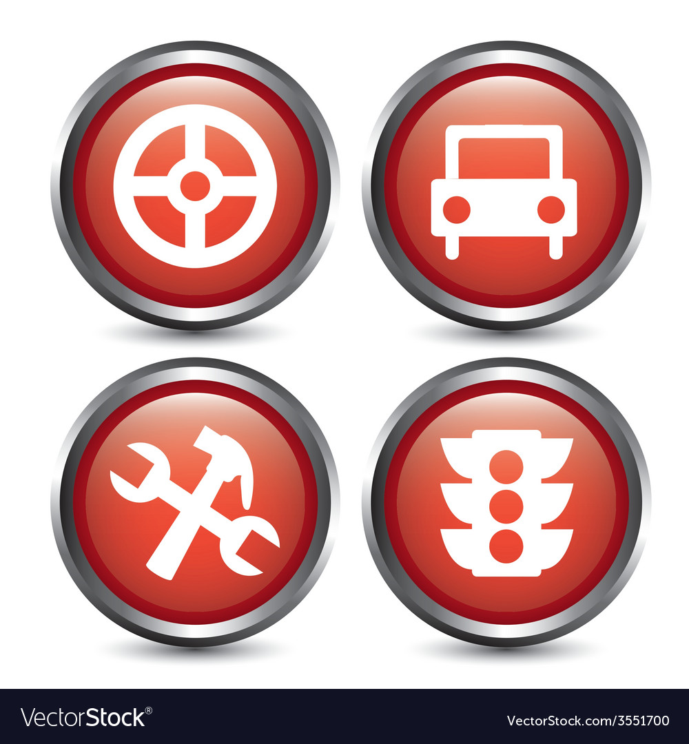 Traffic buttons design vector | Price: 1 Credit (USD $1)