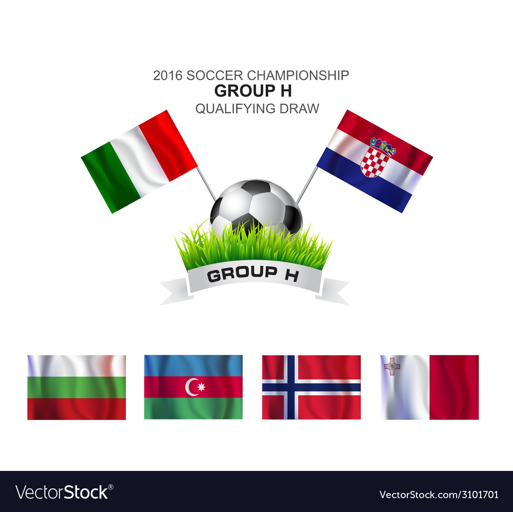 2016 soccer championship group h qualifying draw vector | Price: 1 Credit (USD $1)