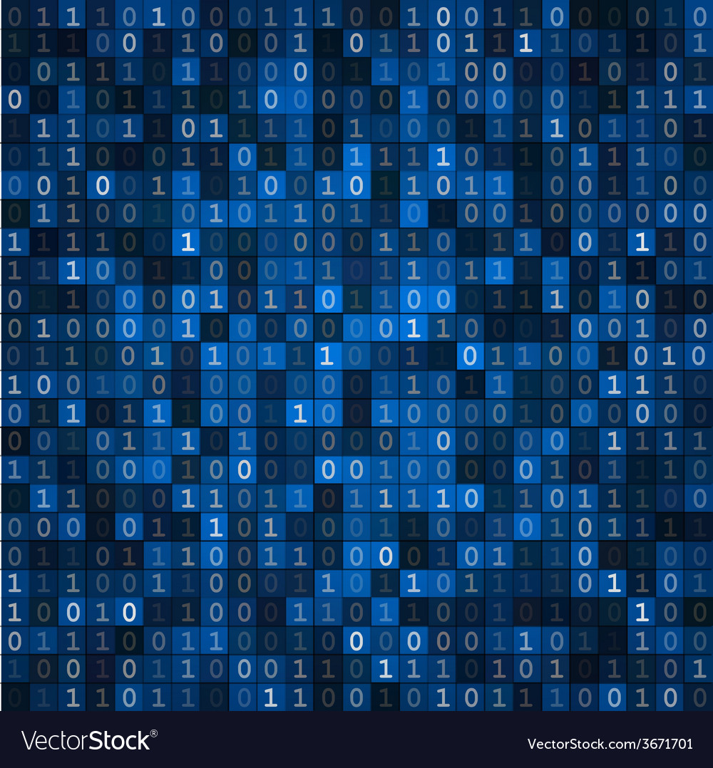 Blue screen binary code screen vector | Price: 1 Credit (USD $1)