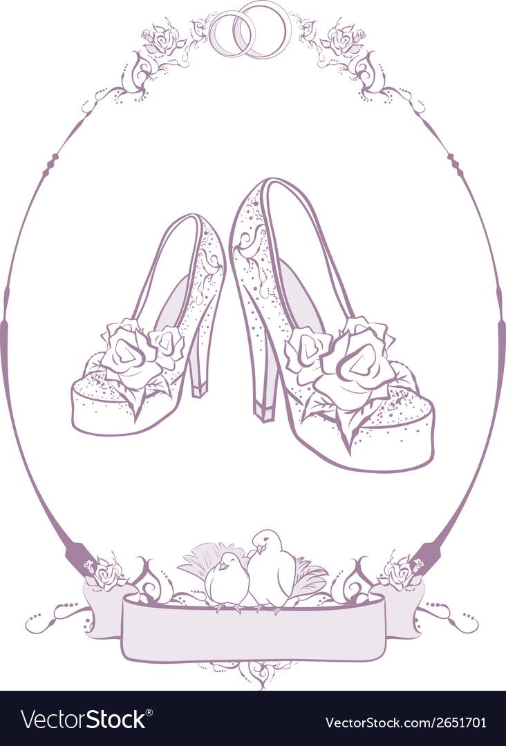 Bride wedding shoes vector | Price: 1 Credit (USD $1)