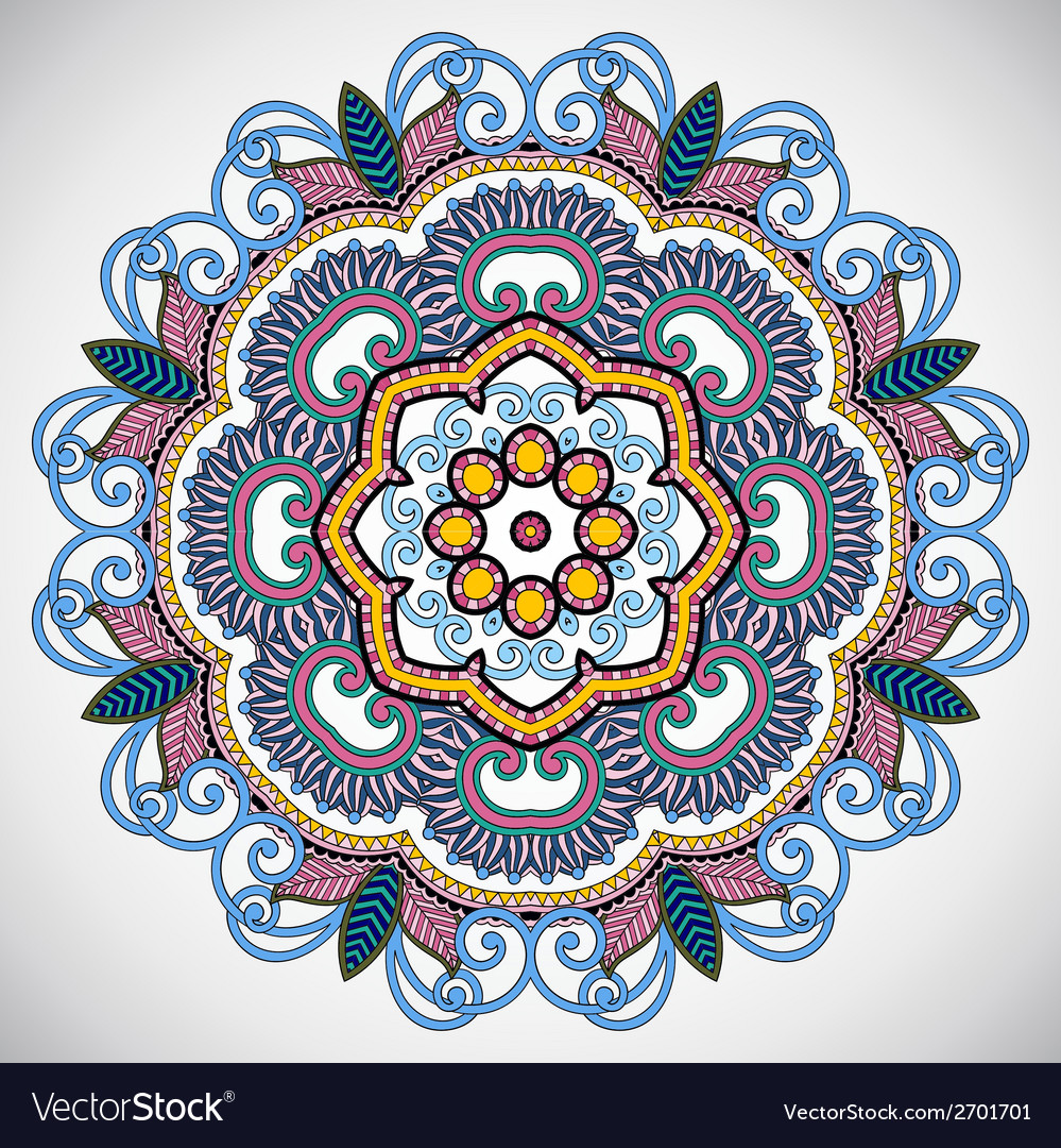 Circle lace ornament round ornamental vector | Price: 1 Credit (USD $1)
