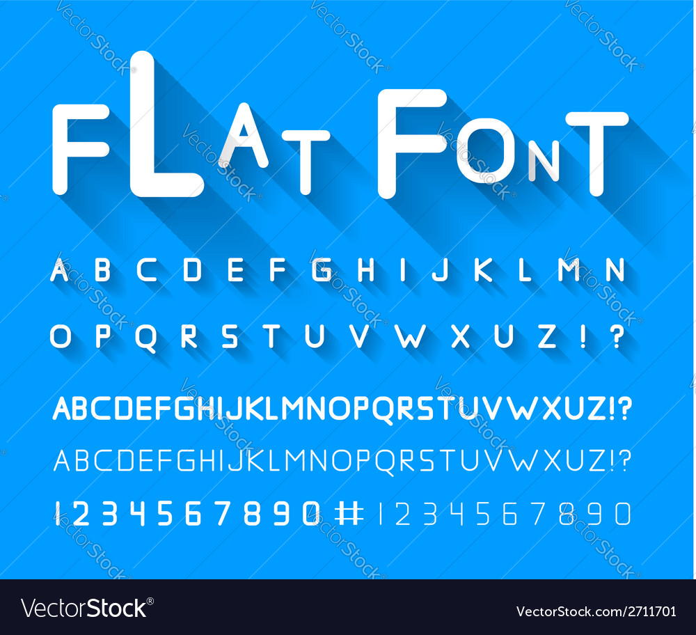 Flat font vector | Price: 1 Credit (USD $1)