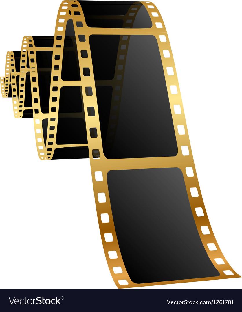 Golden film vector | Price: 1 Credit (USD $1)