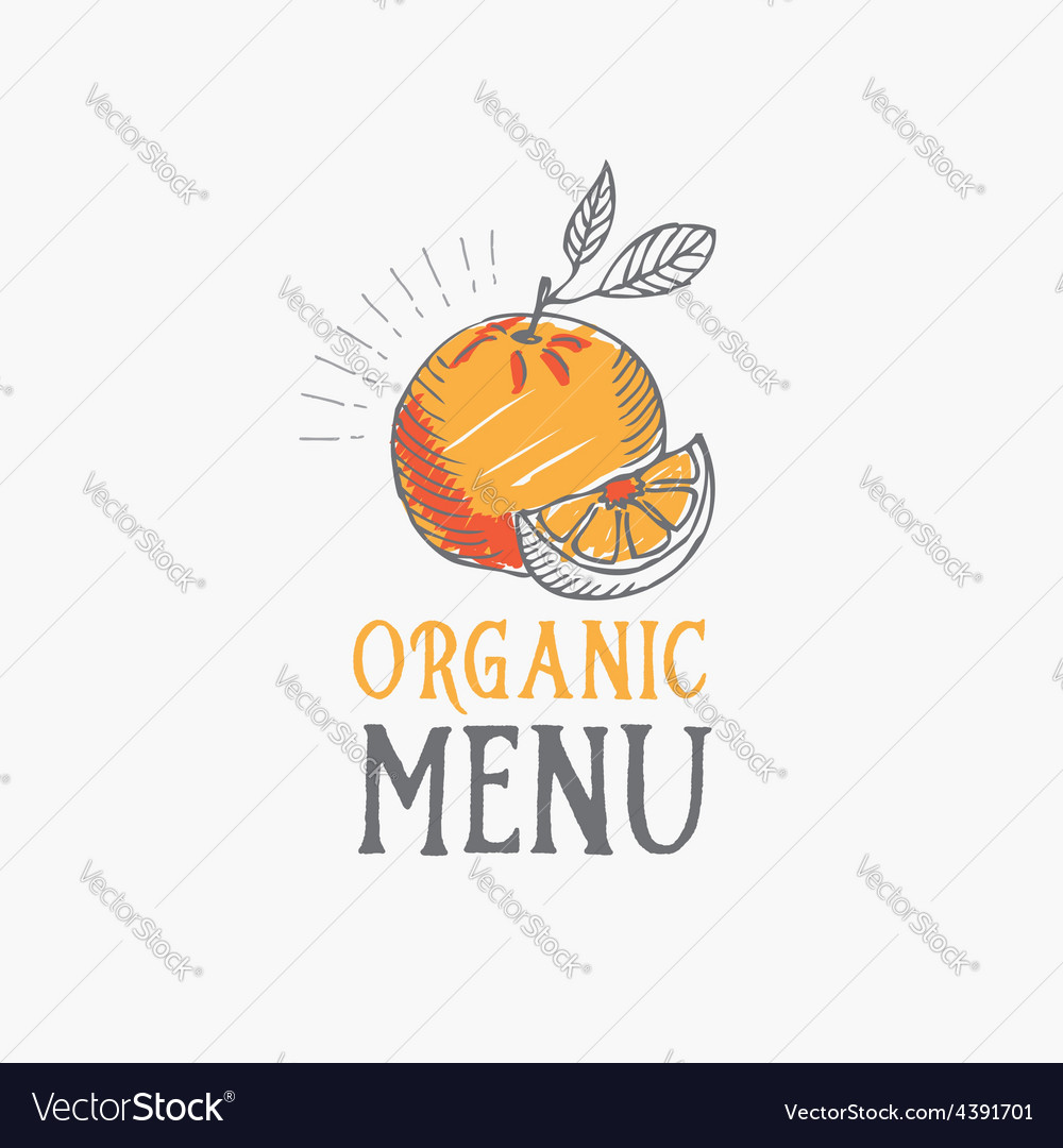 Menu logo template vintage badge food design vector | Price: 1 Credit (USD $1)