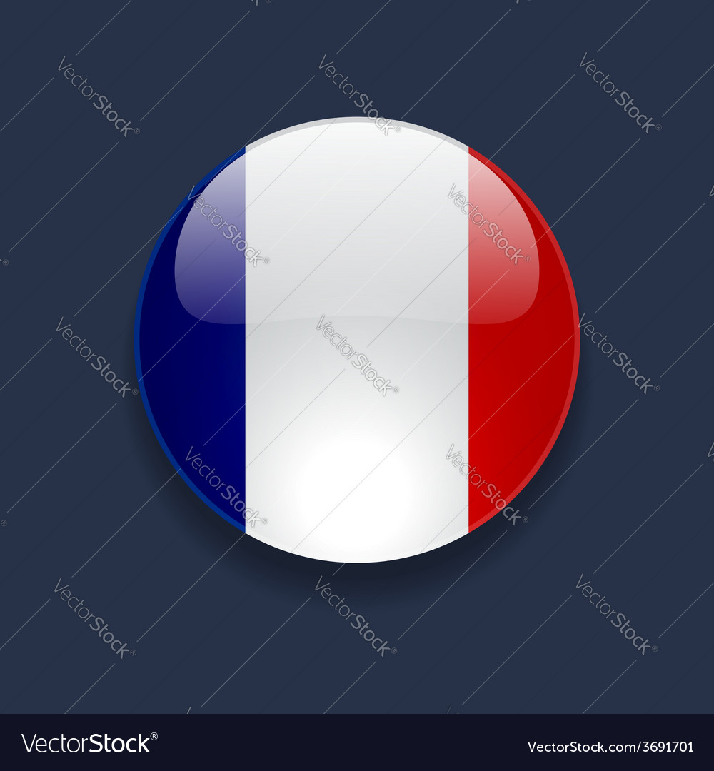 Round icon with flag of france vector | Price: 1 Credit (USD $1)