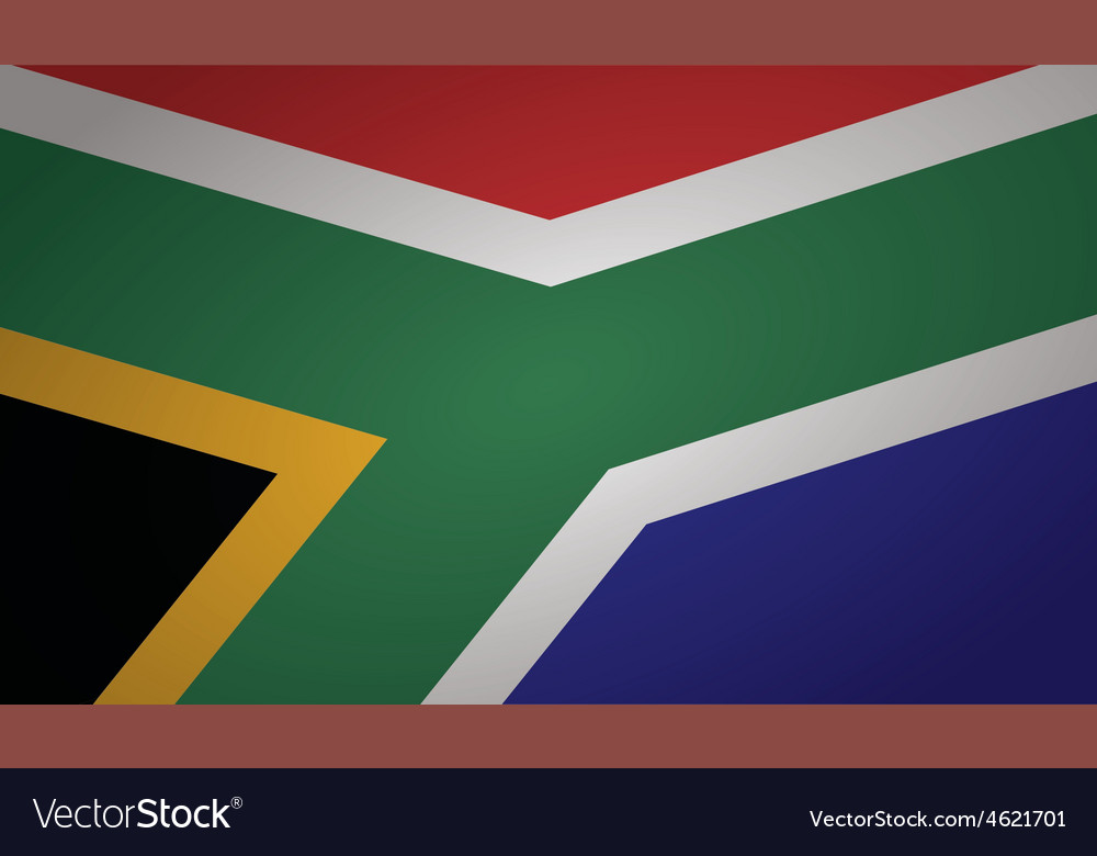 South africa flag vector | Price: 1 Credit (USD $1)