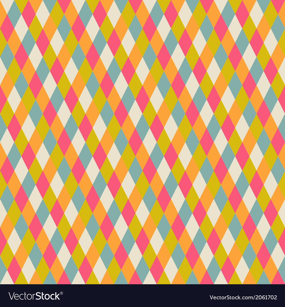 Abstract seamless repeat pattern with rhombs vector | Price: 1 Credit (USD $1)
