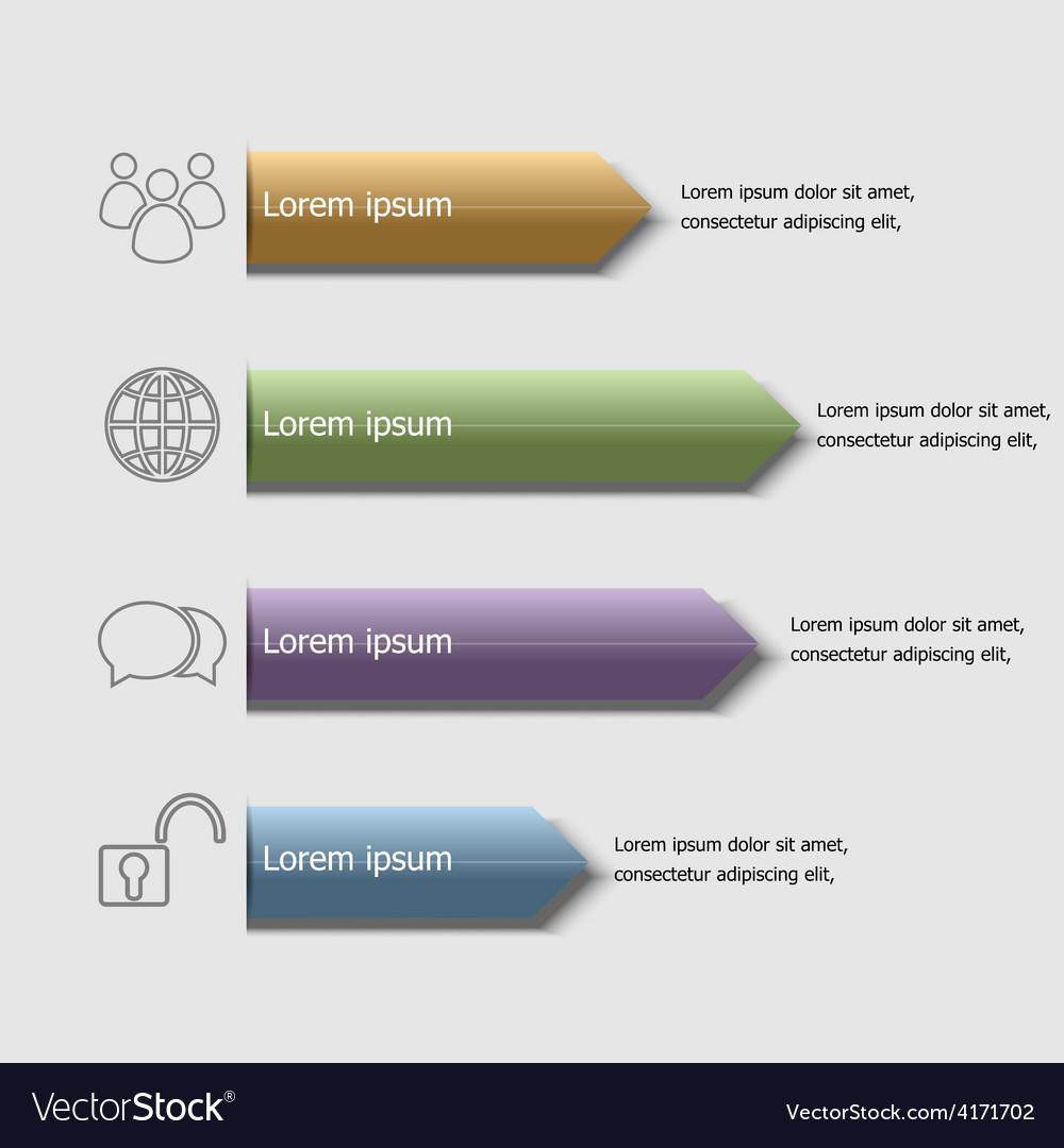 Arrow badge infographic design template vector | Price: 1 Credit (USD $1)