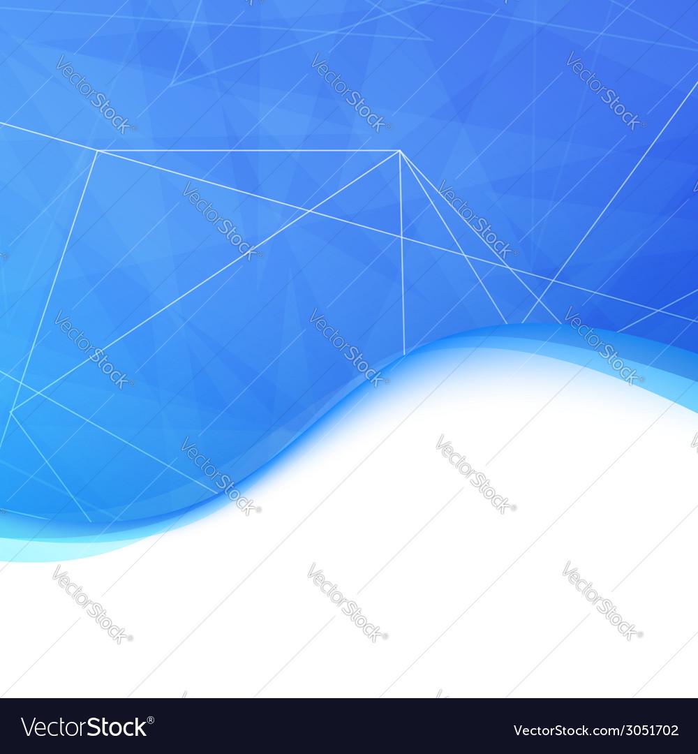Blue modern crystal wave background vector   Price: 1 Credit (USD $1)