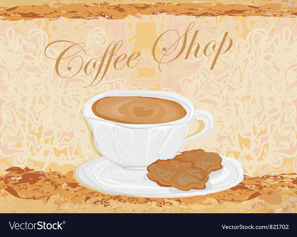 Cup of coffee with abstract design elements vector | Price: 1 Credit (USD $1)