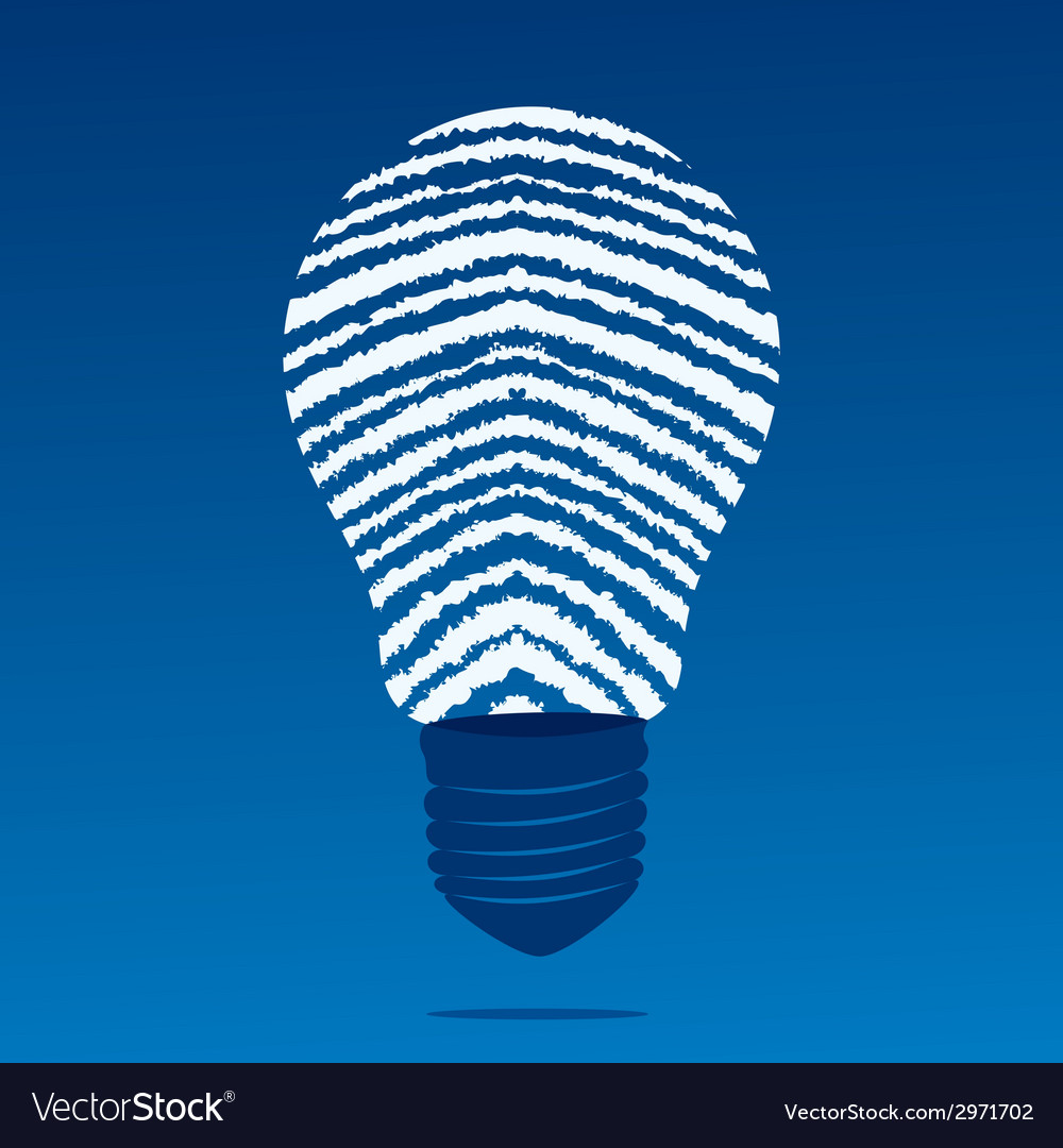 Finger print bulb vector | Price: 1 Credit (USD $1)