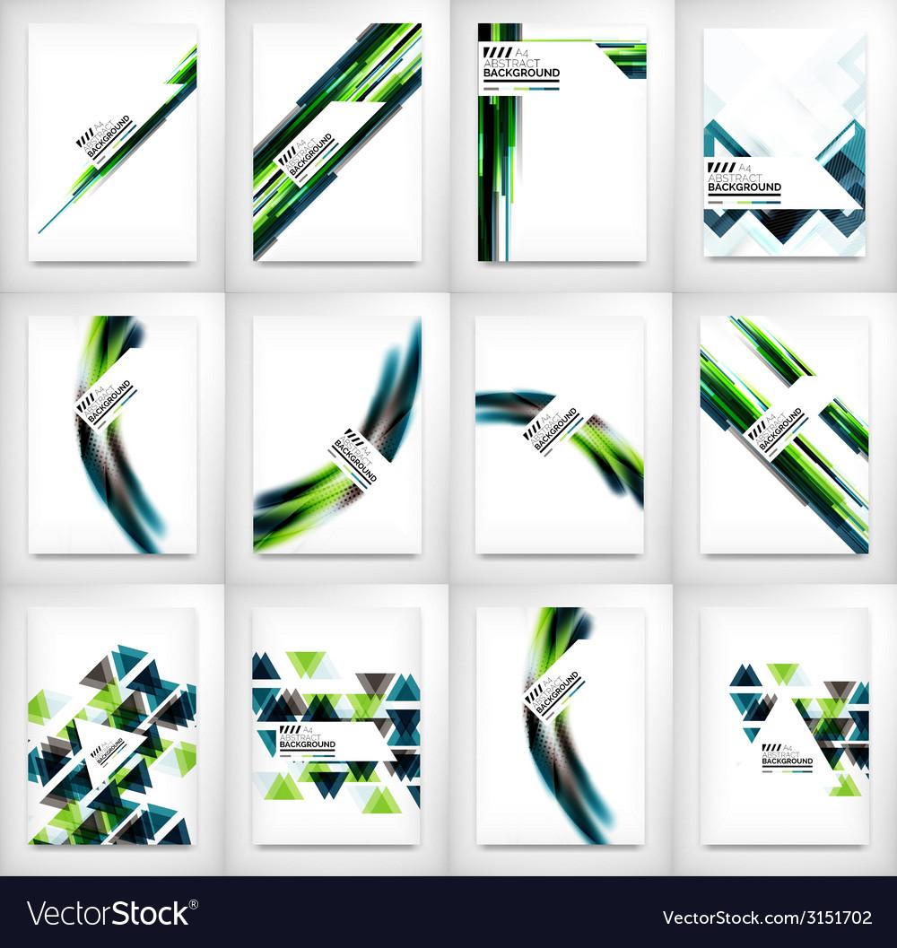 Flyers brochure design templates set layouts vector | Price: 1 Credit (USD $1)