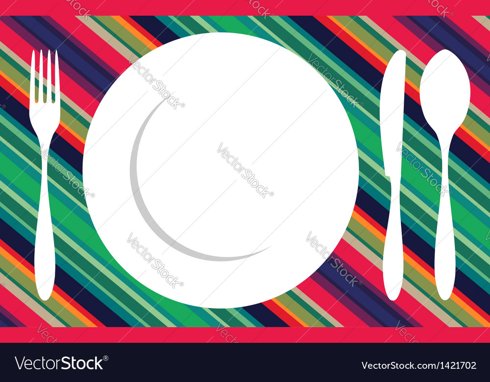 Fork knife and spoon tablecloth vector | Price: 1 Credit (USD $1)