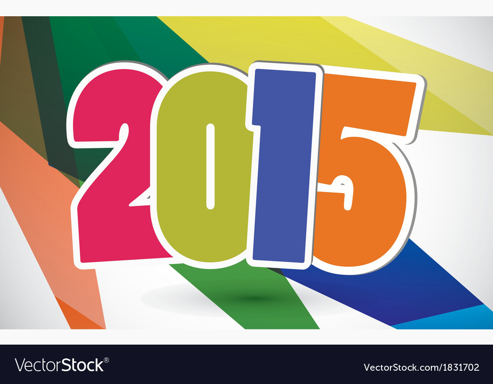 Happy new year 2015 card vector | Price: 1 Credit (USD $1)