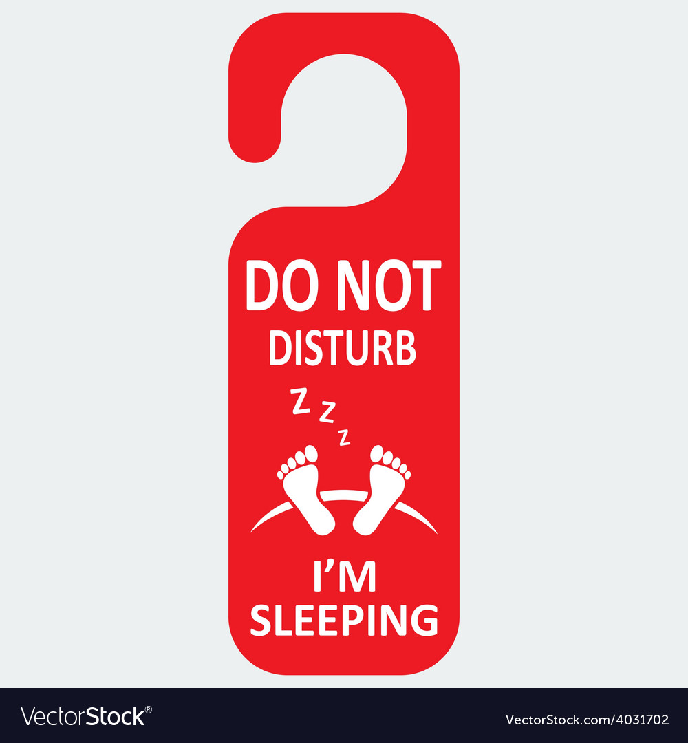 Hotel tag do not disturb with sleeping icon vector | Price: 1 Credit (USD $1)