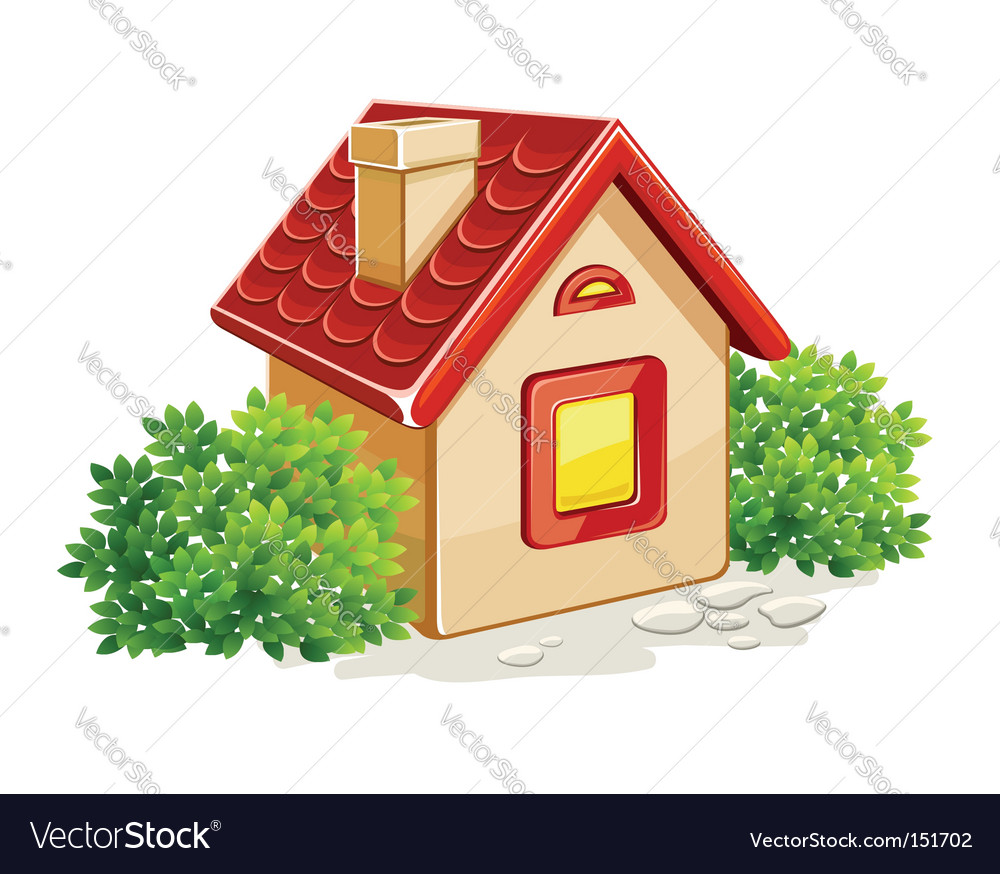 House in countryside vector | Price: 1 Credit (USD $1)