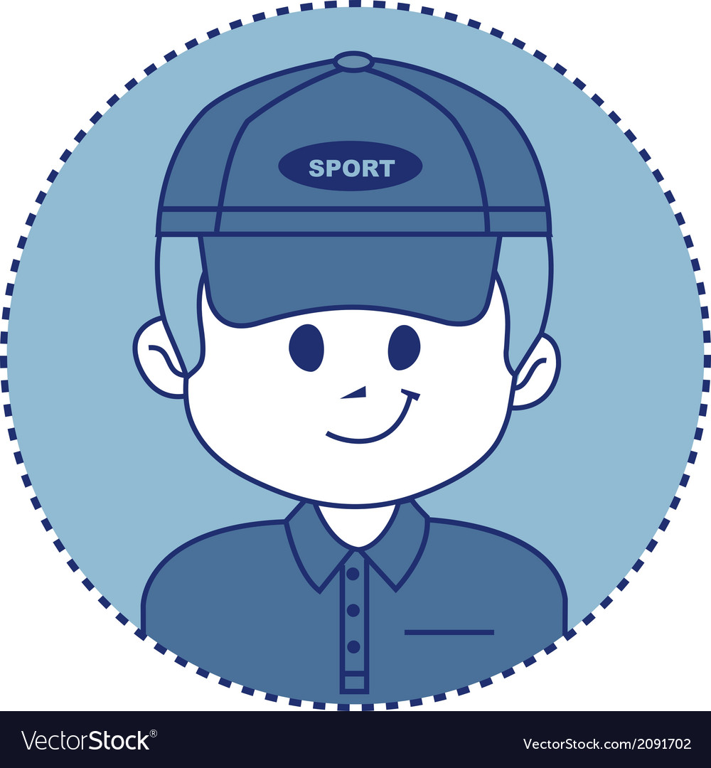 Smiling coach of a sports team or rich golfer vector | Price: 1 Credit (USD $1)