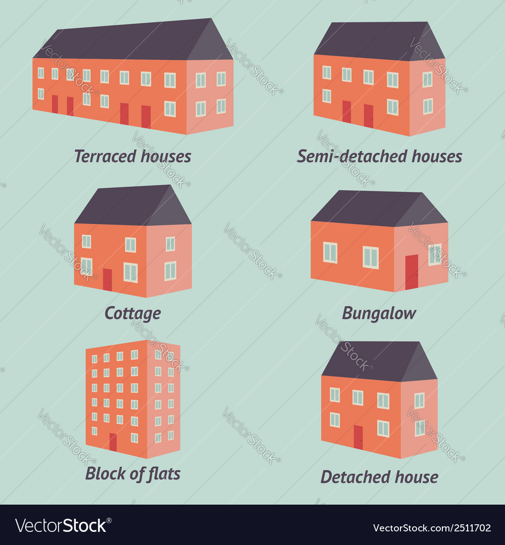 Types of houses vector | Price: 1 Credit (USD $1)